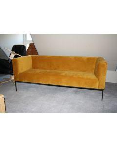 3 pers. sofa Block i gul micro fibre
