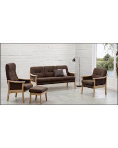 Senior stue 3pers. sofa + høj og lav stol